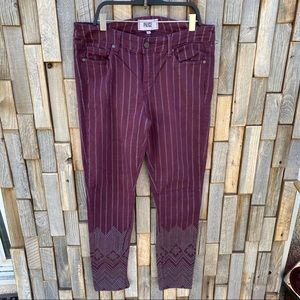 Paige Verdugo ankle skinny size 30 wine colored